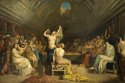 Chasseriau Painting - Tepidarium by Theodore Chasseriau