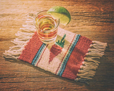Coaster Photograph - Tequila For Cinco De Mayo by Scott Norris
