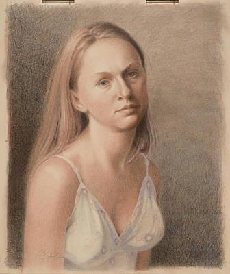 Teresa In Sun Dress Print by Todd Baxter