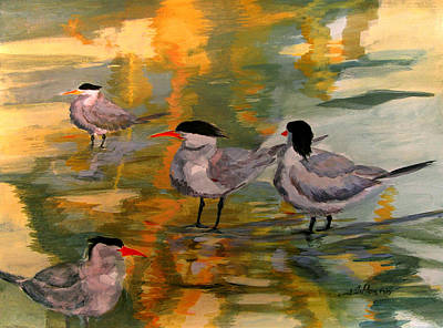 Painting - Terns At Dawn 5-8-15 by Julianne Felton