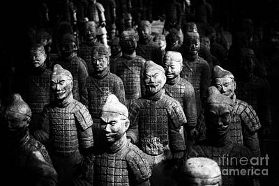 Terra Cotta Soldiers Photograph - Terra Cotta Army Abstract by Darcy Michaelchuk