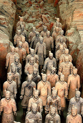 Terra Cotta Soldiers Photograph - Terra Cotta Soldiers  China by Dan Albright