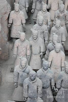 Terra Cotta Warriors Detail Print by Thomas Marchessault