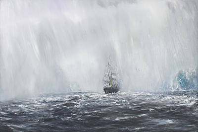 Steam Ships Painting - Terra Nova by Vincent Alexander Booth