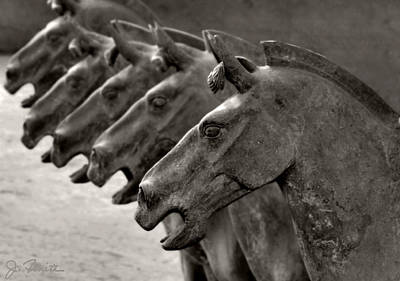 Terracotta Horses Print by Joe Bonita