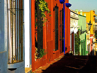 Terracotta House On The Hill Print by Mexicolors Art Photography