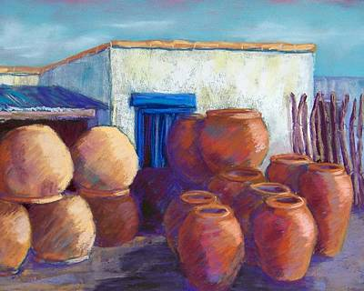 Terracotta Pots Print by Candy Mayer