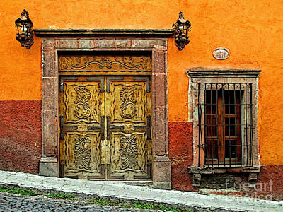 Portal Photograph - Terracotta Wall 1 by Mexicolors Art Photography