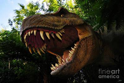 T-rex Digital Art - Terrible Lizard by David Lee Thompson