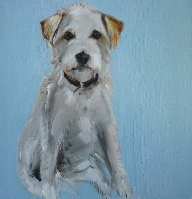 Backdrop Painting - Terrier by Sally Muir
