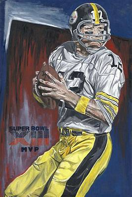 Pittsburgh Steelers Painting - Terry Bradshaw Xiii Mvp by David Courson