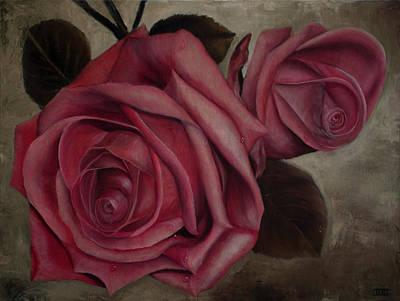 Mums Painting - Tears Of Venus Roses by Julie Bond