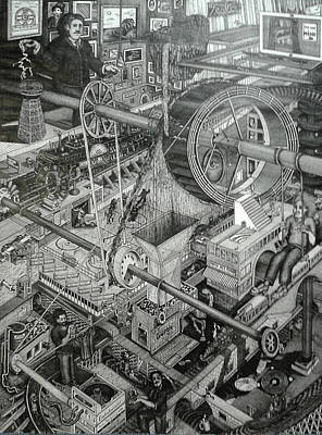 Drawing - Teslas Free Energy  by Richie Montgomery