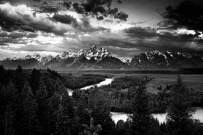 Clearing Photograph - Teton Drama by Andrew Soundarajan