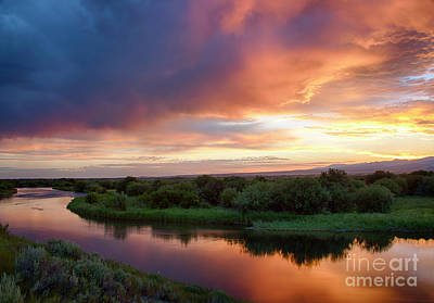 Teton River Dawn Print by Idaho Scenic Images Linda Lantzy