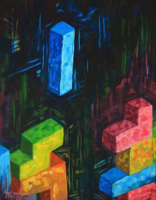 Tetris Tribute Print by John Wallie