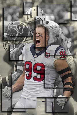 Jj Photograph - Texans Jj Watt 2 by Joe Hamilton