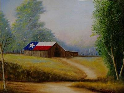 Texas Barn Print by Gene Gregory