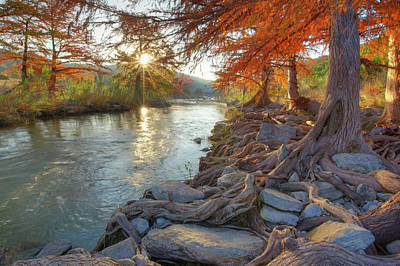Texas Hill Country Fall Colors 1 Print by Rob Greebon