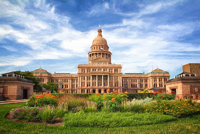 Fluttering Photograph - Texas Impressions Texas State Capitol II by Joan Carroll
