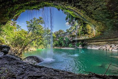 Natural Pool Photograph - Texas Paradise by Jonathan Davison
