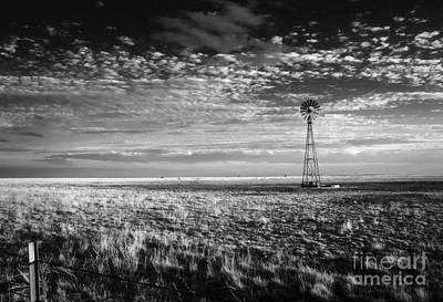 Texas Plains Windmill Print by Fred Lassmann