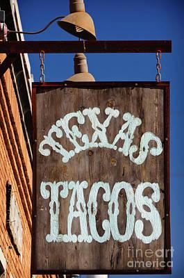 Texas Tacos Print by Charles Dobbs