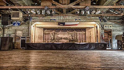 Texas Two Steppin At Gruene Hall Print by Stephen Stookey