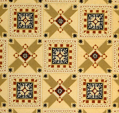 Textile Design Print by English School