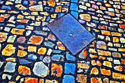 Texture. Next To Charles Bridge. Prague. Czech Republic. Print by Andy Za