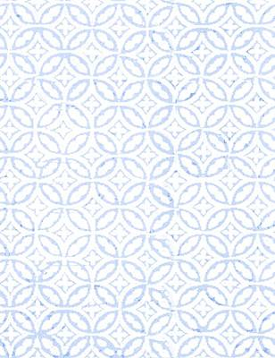 Textured Blue Diamond And Oval Pattern Print by Gillham Studios