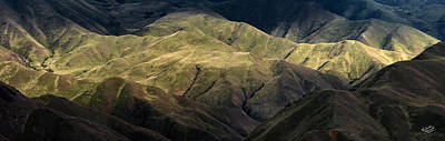 Textured Hills Panoramic Print by Leland D Howard