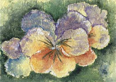 Pansy Painting - Textured Pansy by Marsha Elliott