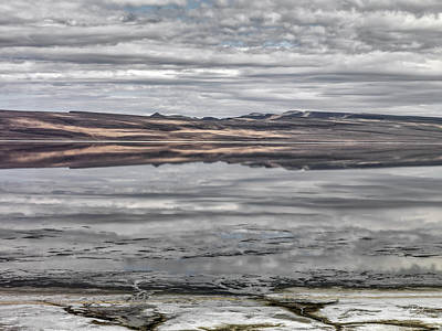 Textures And Reflections Print by Leland D Howard