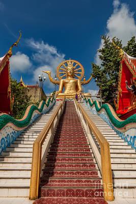 Thai Big Buddha Print by Adrian Evans