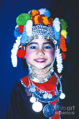 Photograph - Thai Girl Traditionally Dressed by Heiko Koehrer-Wagner