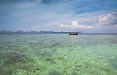 Rowboat Photograph - Thai Nok, Thailand by Photo by Jim Boud