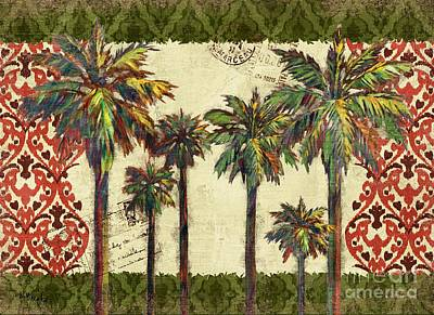 Palmettos Painting - Thai Palm Horizontal II by Paul Brent