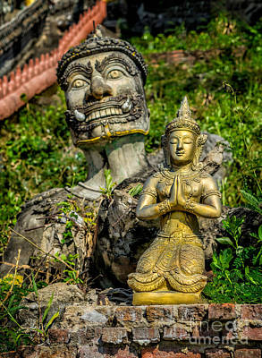 Thai Statues Print by Adrian Evans