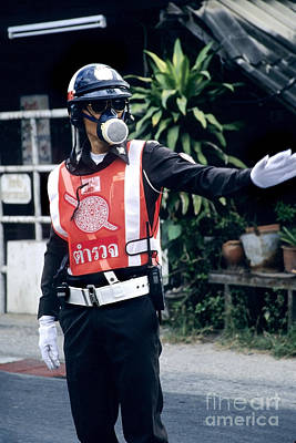 Thai Traffic Officer Print by Inga Spence