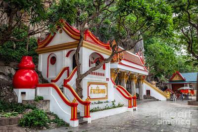 Monkey Digital Art - Tham Khao Yoi Temple by Adrian Evans