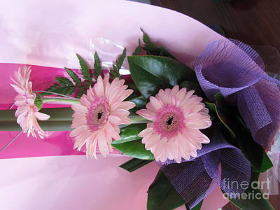 Thank You Flowers Print by Joyce Woodhouse
