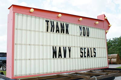 Thank You Navy Seals Print by Lynda Dawson-Youngclaus