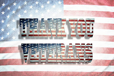 Thank You Veterans Print by Les Cunliffe