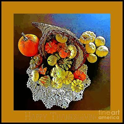 Thanksgiving Card Original by John Malone