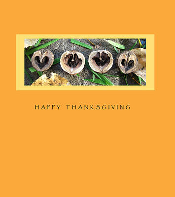 Seasonal Mixed Media - Thanksgiving Card by Mary Ellen Frazee