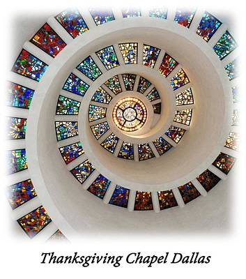 Dallas Photograph - Thanksgiving Stained Glass V2 T-shirt by Rospotte Photography