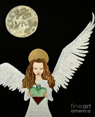 Night Angel Painting - That Old Black Magic Called Love  by Wendy Wunstell