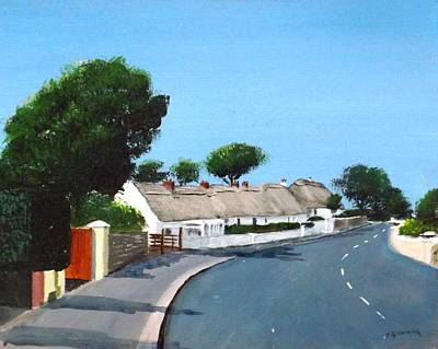 Thatched Cottages, Dunmore East Original by Tony Gunning
