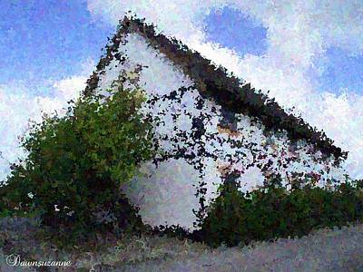 Photograph - Thatched Country House Impressionist Painting by Dawn Hay